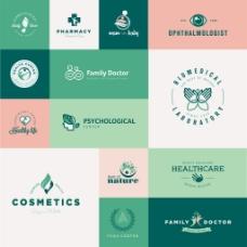 爱心环保企业餐饮行业logo标志徽章