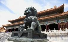 紫荆城铜狮子
