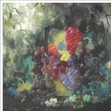 畫家肖超 彩墨葡萄畫