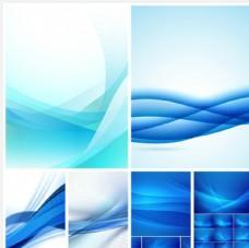 蓝色线条背景