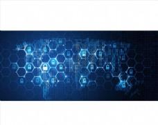 蓝色背景 网络科技背景