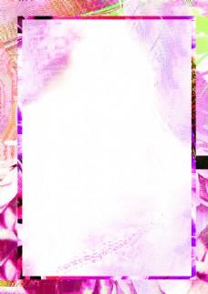 彩色渐变花纹边框背景