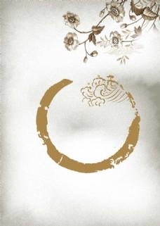 中国风水墨花朵背景