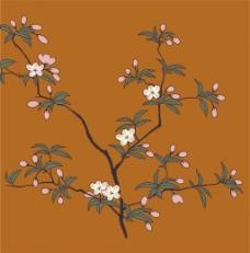 黄色花枝背景图