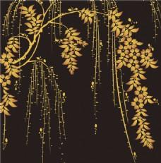 金色树枝背景图