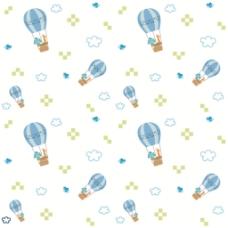 小清新热气球布纹背景图