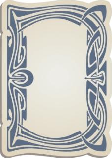 蓝色花纹边框背景