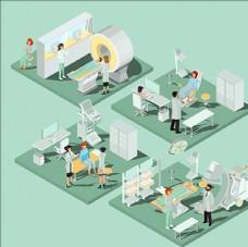 等距立体三维卫生医疗插图