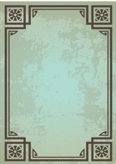 复古作旧花纹边框背景