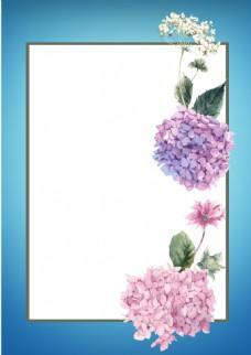 小清新粉色花瓣背景