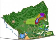旅游规划彩色平面效果图