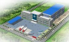公司单位整体建筑鸟瞰效果图