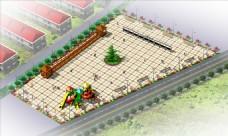 文化广场效果图