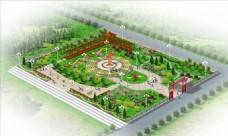 广场景观效果图