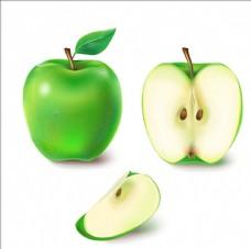 多汁的绿色苹果