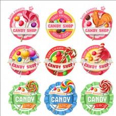卡通糖果商标标志标签贴纸