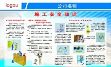 施工安全知识展板图片素材