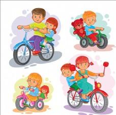 骑在自行车上的孩子