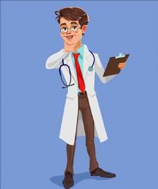 卡通医生插图