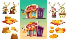 面包店烘焙店元素