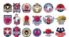 拳击培训比赛俱乐部标志商标