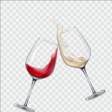 白葡萄酒和红葡萄酒