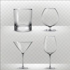 写实风格酒杯
