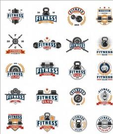 健身减肥俱乐部标志商标