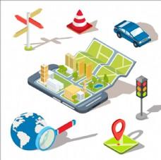 全球定位系统概念插图