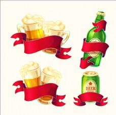 明亮的彩带啤酒插图