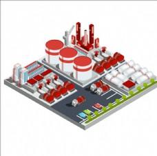 等距立体三维UNK炼油厂插图