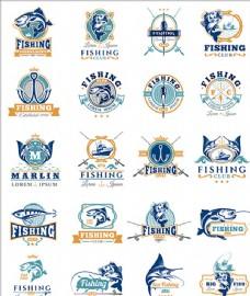 钓鱼用品俱乐部标志商标