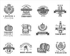 復古啤酒標志徽章貼紙商標