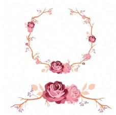 玫瑰花花环