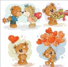 情人节可爱的泰迪熊