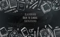 黑板上的学校元素