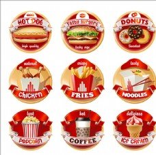西式快餐店食品标签