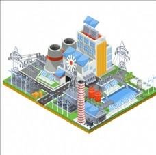 卡通环保发电厂插图