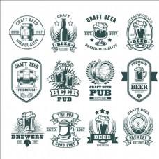 复古啤酒标志商标