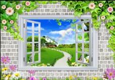 窗户背景墙