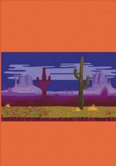 沙漠风景矢量图下载