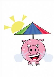 卡通小猪矢量图小猪