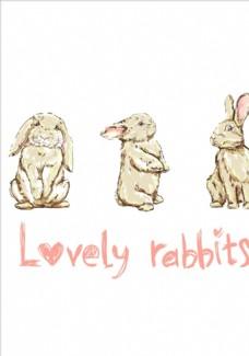 卡通兔子矢量图下载
