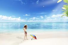 夏日沙滩比基尼