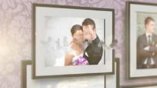欧式相框浪漫婚礼照片墙展示