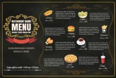 金边高端餐厅美食海报EPS素材