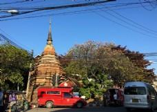 泰国清迈佛塔