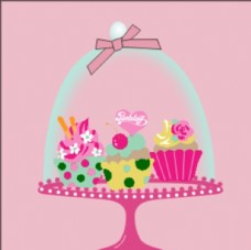 卡通甜点甜品图案