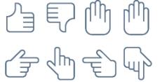 手势小图标