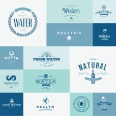 环保蓝色标志企业餐饮行业logo